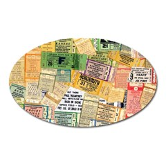 Retro Concert Tickets Magnet (oval) by StuffOrSomething