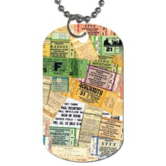 Retro Concert Tickets Dog Tag (two Sided)  by StuffOrSomething