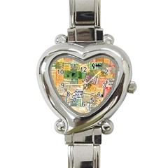 Retro Concert Tickets Heart Italian Charm Watch  by StuffOrSomething
