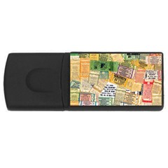 Retro Concert Tickets 4gb Usb Flash Drive (rectangle) by StuffOrSomething