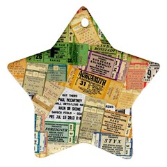 Retro Concert Tickets Star Ornament (two Sides) by StuffOrSomething