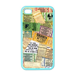 Retro Concert Tickets Apple Iphone 4 Case (color) by StuffOrSomething