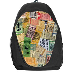 Retro Concert Tickets Backpack Bag by StuffOrSomething