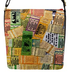 Retro Concert Tickets Flap Closure Messenger Bag (small) by StuffOrSomething