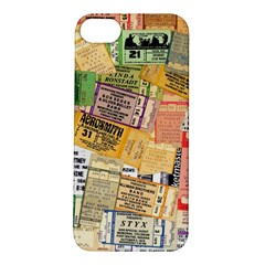 Retro Concert Tickets Apple Iphone 5s Hardshell Case by StuffOrSomething