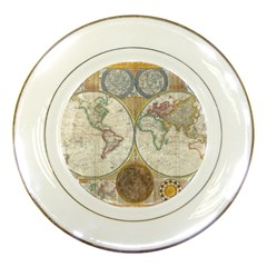 1794 World Map Porcelain Display Plate by StuffOrSomething