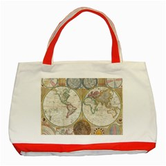 1794 World Map Classic Tote Bag (red) by StuffOrSomething