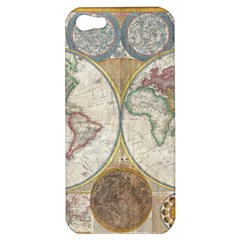 1794 World Map Apple Iphone 5 Hardshell Case by StuffOrSomething