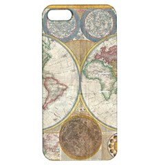 1794 World Map Apple Iphone 5 Hardshell Case With Stand by StuffOrSomething