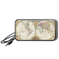 1794 World Map Portable Speaker (Black) by StuffOrSomething