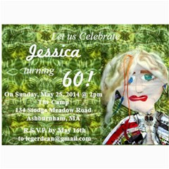 60th Birthday By Nadine   5  X 7  Photo Cards   8kgkpnnsprz1   Www Artscow Com 7 x5 Photo Card - 7