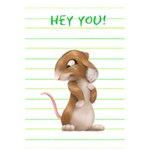 hey you - 5.5  x 8.5  Notebook