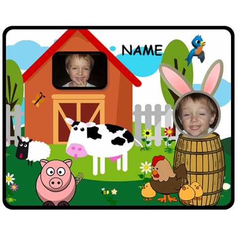 Kid s Barnyard Medium Blanket By Joy Johns   Fleece Blanket (medium)   F8j4ialrlzo0   Www Artscow Com 60 x50 Blanket Front