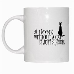 Home Cat By J M  Raymond   White Mug   53ptompa1dre   Www Artscow Com Left