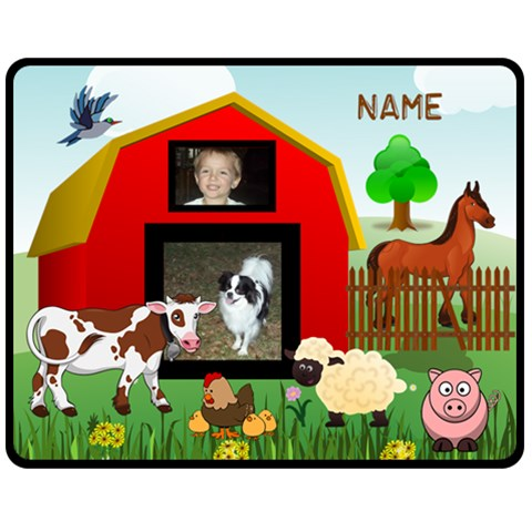 Kid s Barnyard Medium Blanket,#2 By Joy Johns   Fleece Blanket (medium)   Wp4iij8jkvv7   Www Artscow Com 60 x50 Blanket Front