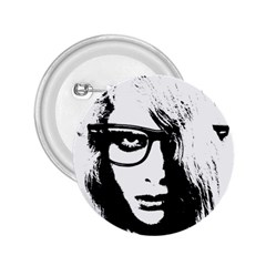 Hipster Zombie Girl 2 25  Button by chivieridesigns