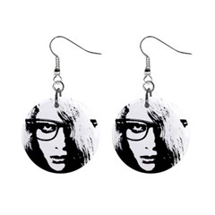 Hipster Zombie Girl Mini Button Earrings by chivieridesigns