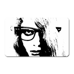 Hipster Zombie Girl Magnet (rectangular) by chivieridesigns