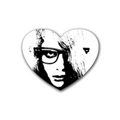 Hipster Zombie Girl Drink Coasters 4 Pack (heart)