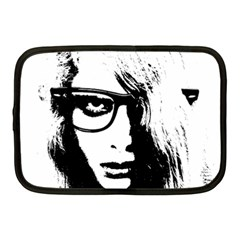 Hipster Zombie Girl Netbook Sleeve (medium) by chivieridesigns