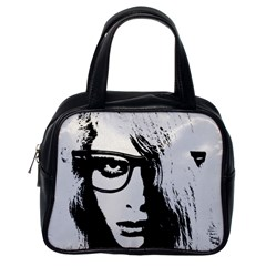 Hipster Zombie Girl Classic Handbag (one Side) by chivieridesigns