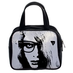 Hipster Zombie Girl Classic Handbag (two Sides) by chivieridesigns