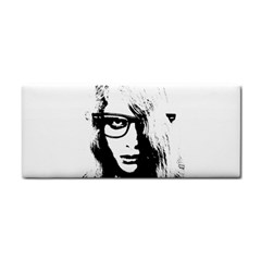 Hipster Zombie Girl Hand Towel by chivieridesigns