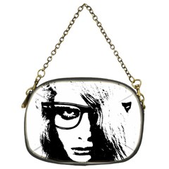 Hipster Zombie Girl Chain Purse (one Side) by chivieridesigns