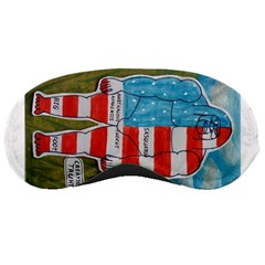 Painted Flag Big Foot Austral Sleeping Mask by creationtruth