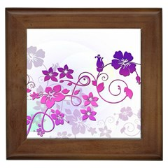 Floral Garden Framed Ceramic Tile by Colorfulart23