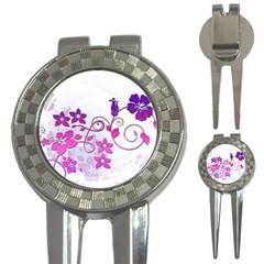 Floral Garden Golf Pitchfork & Ball Marker by Colorfulart23