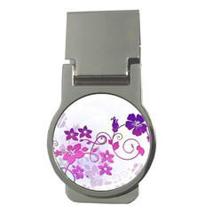 Floral Garden Money Clip (round) by Colorfulart23