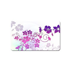 Floral Garden Magnet (name Card) by Colorfulart23