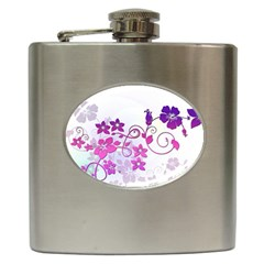 Floral Garden Hip Flask by Colorfulart23