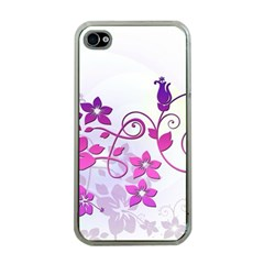 Floral Garden Apple Iphone 4 Case (clear) by Colorfulart23