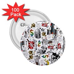 Medieval Mash Up 2.25  Button (100 pack) by StuffOrSomething