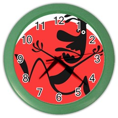 Running Man Wall Clock (color) by StuffOrSomething