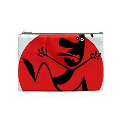 Running Man Cosmetic Bag (medium) by StuffOrSomething
