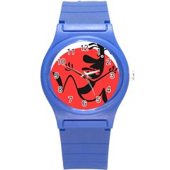 Running Man Plastic Sport Watch (small) by StuffOrSomething
