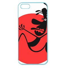 Running Man Apple Seamless Iphone 5 Case (color) by StuffOrSomething