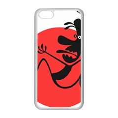 Running Man Apple Iphone 5c Seamless Case (white) by StuffOrSomething