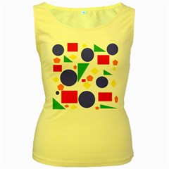 Random Geometrics Women s Tank Top (yellow) by StuffOrSomething