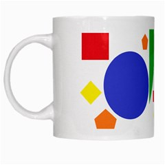 Random Geometrics White Coffee Mug by StuffOrSomething