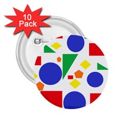 Random Geometrics 2 25  Button (10 Pack) by StuffOrSomething