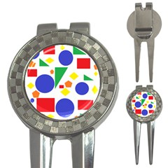Random Geometrics Golf Pitchfork & Ball Marker by StuffOrSomething