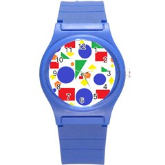 Random Geometrics Plastic Sport Watch (small) by StuffOrSomething
