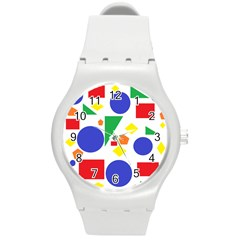 Random Geometrics Plastic Sport Watch (medium) by StuffOrSomething