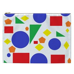Random Geometrics Cosmetic Bag (xxl) by StuffOrSomething