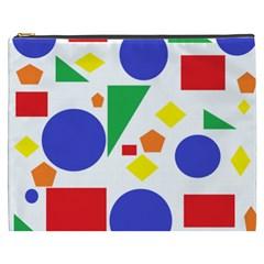 Random Geometrics Cosmetic Bag (xxxl) by StuffOrSomething