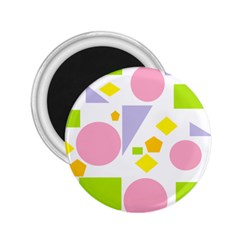Spring Geometrics 2 25  Button Magnet by StuffOrSomething